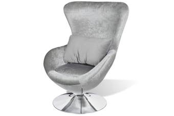 Armchair with Egg Shape Silver
