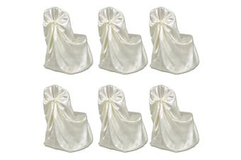 6 pcs Cream Chair Cover for Wedding Banquet