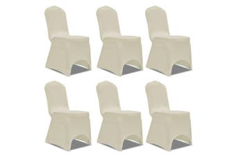 Chair Cover Stretch Cream 6 pcs