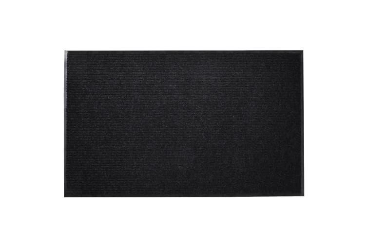 Black PVC Door Mat 120 x 180 cm