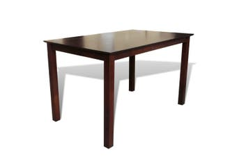 Dining Table 110 cm Solid Wood Brown