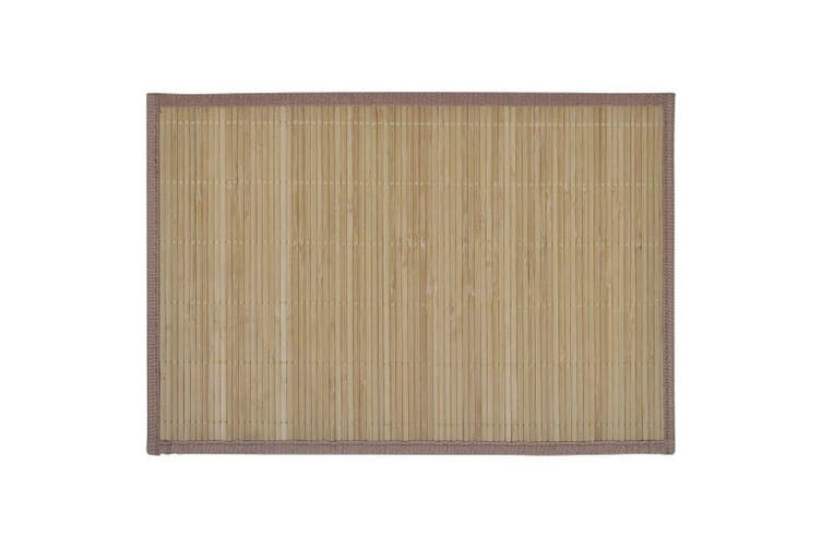 6 Bamboo Placemats 30 x 45 cm Brown