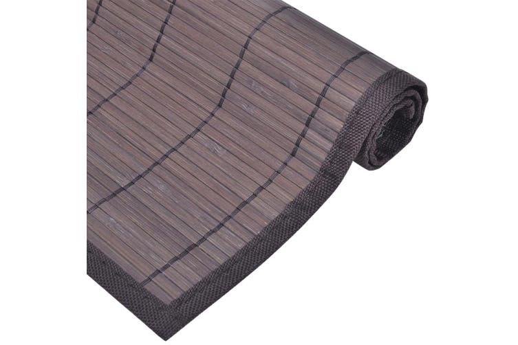 6 Bamboo Placemats 30 x 45 cm Dark Brown