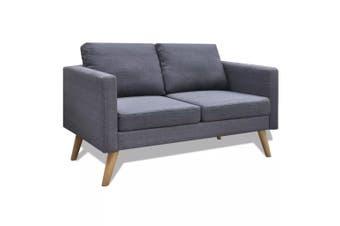 Sofa 2-Seater Fabric Dark Grey