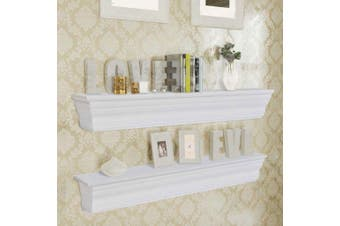 "Wall Shelves ""Aaliyah"" 2 pcs White"