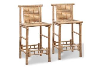 Bar Stools 2 pcs Bamboo