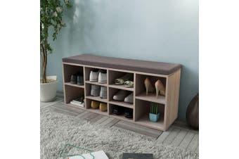 Shoe Storage Bench 10 Compartments Oak Colour