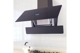 Range Hood with Touch Display Black 900 mm