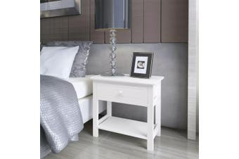 Bedside Cabinets 2 pcs Wood White