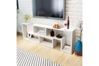 TV Cabinet Double L-Shaped White