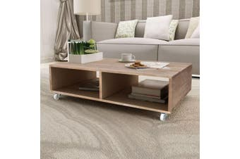 Coffee Table Brown Solid Wood