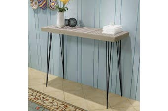 Console Table 90x30x71.5 cm Grey