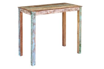 Bar Table Solid Reclaimed Wood 115x60x107 cm