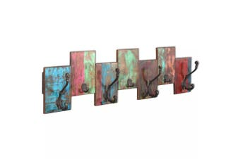 Coat Rack with 7 Hooks Solid Reclaimed Wood