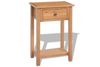 Console Table 50x32x75 cm Solid Oak Wood
