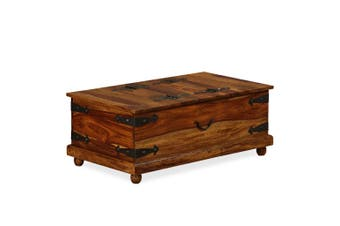 Storage Chest Solid Sheesham Wood 90x50x35 cm