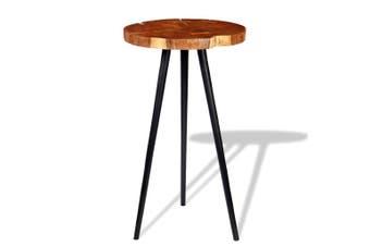 Log Bar Table Solid Acacia Wood (55-60)x110 cm
