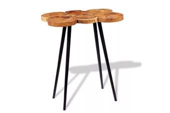 Log Bar Table Solid Acacia Wood 90x60x110 cm