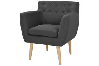 Armchair Dark Grey Fabric
