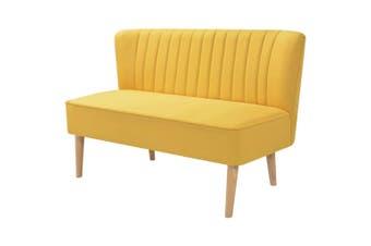 Sofa Fabric 117x55.5x77 cm Yellow