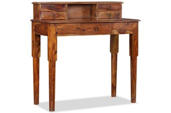Writing Desk with 5 Drawers Solid Sheesham Wood 90x40x90 cm