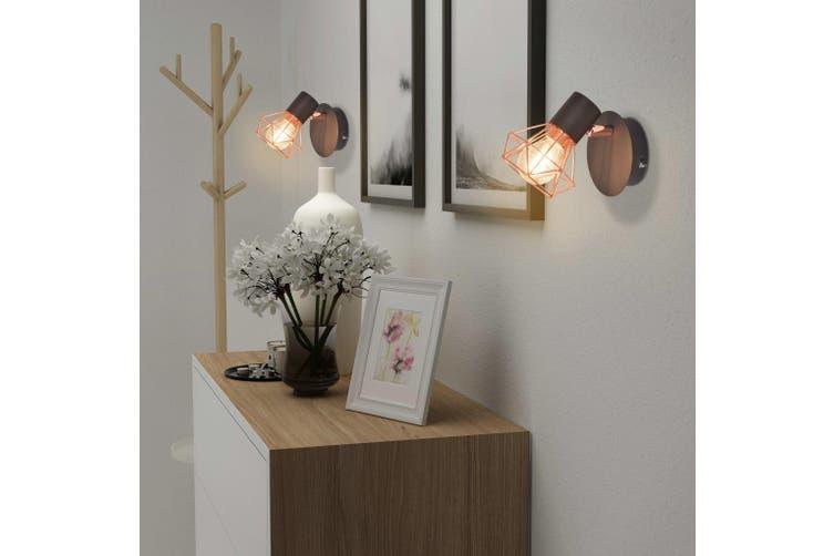 Wall Lamp 2 pcs E14 Black and Copper