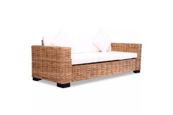 3-Seater Sofa Natural Rattan