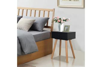 Bedside Tables 2 pcs Solid Pinewood 40x30x61 cm Black