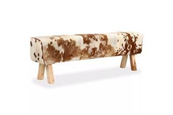 Bench Genuine Goat Leather 160x28x50 cm
