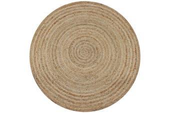 Area Rug Braided Jute 120 cm Round