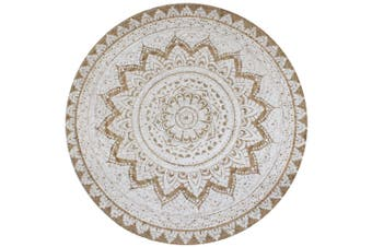 Area Rug Braided Jute Printed 150 cm Round