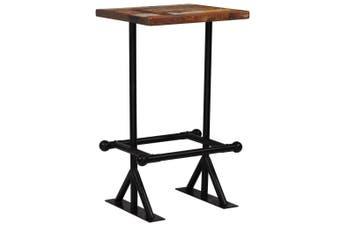 Bar Table Solid Reclaimed Wood Multicolour 60x60x107 cm
