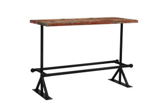 Bar Table Solid Reclaimed Wood Multicolour 150x70x107 cm