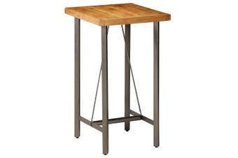 Bar Table Solid Reclaimed Teak 60x60x107 cm