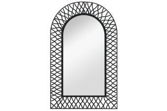 Wall Mirror Arched 50x80 cm Black
