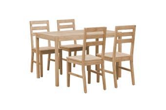 5 Piece Dining Set Solid Acacia Wood