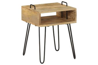 Bedside Table Solid Mango Wood 40x34x47 cm