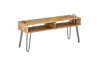 TV Stand Solid Mango Wood 110x35x45 cm