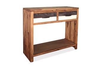 Console Table Solid Acacia Wood 86x30x75 cm