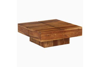 Coffee Table Solid Sheesham Wood 80x80x30 cm