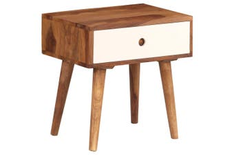 Bedside Table Solid Sheesham Wood 45x30x45 cm