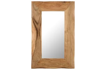 Cosmetic Mirror 50x80 cm Solid Acacia Wood
