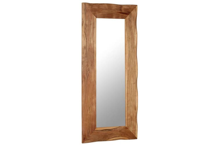 Cosmetic Mirror 50x110 cm Solid Acacia Wood