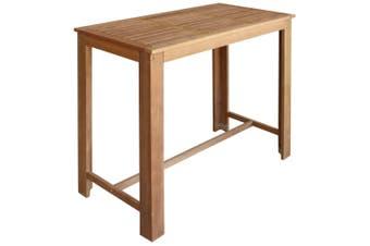 Bar Table Solid Acacia Wood 120x60x105 cm
