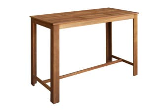Bar Table Solid Acacia Wood 150x70x105 cm