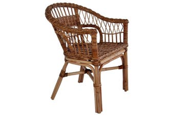 Outdoor Chair Natural Rattan Brown