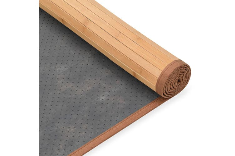 Rug Bamboo 80x300 cm Brown