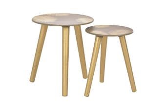 Nesting Side Tables 2 pcs Gold 40x45 cm/30x40 cm MDF