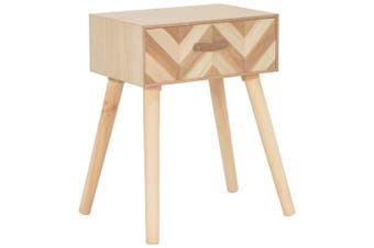 Bedside Cabinet with Drawer 44x30x58 cm Solid Wood