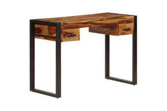 Desk with 2 Drawers 110x50x77 cm Solid Sheesham Wood